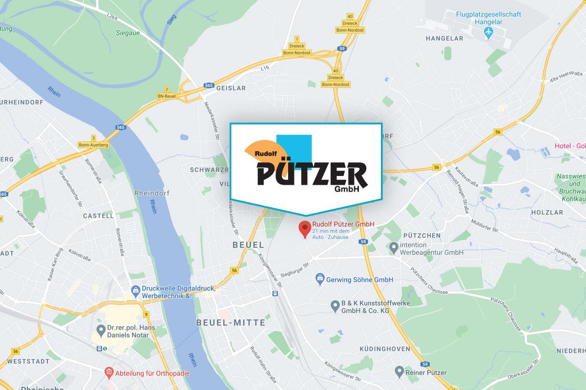 Rudolf Pützer GmbH - Anfahrt Navigation mit Google Maps